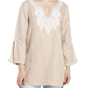 Linen embroidered Tunick